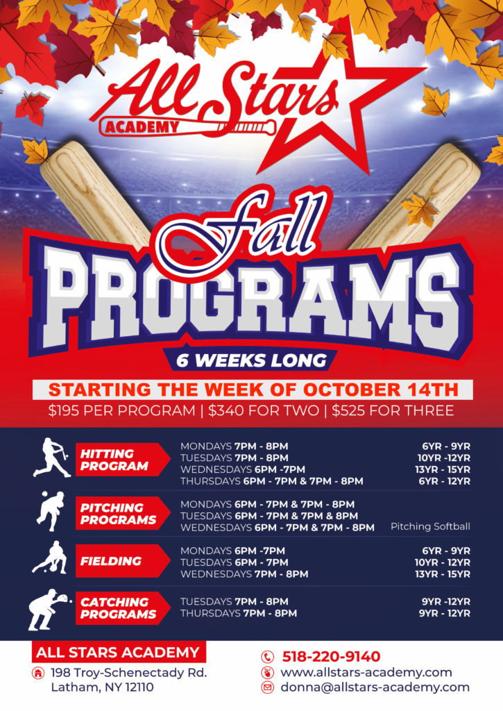 2019 Fall programs flyer