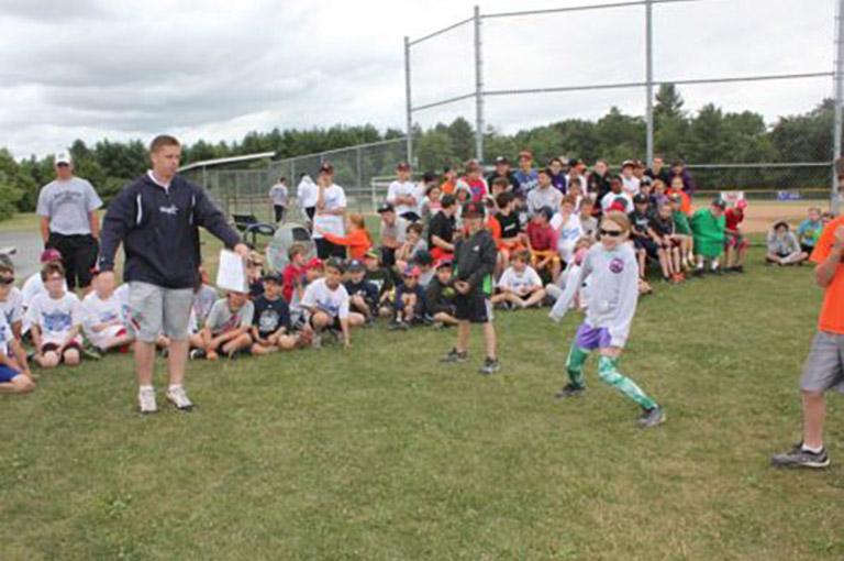 Kids at baseball summer camp