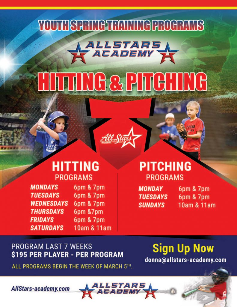 Youth spring training program flyer