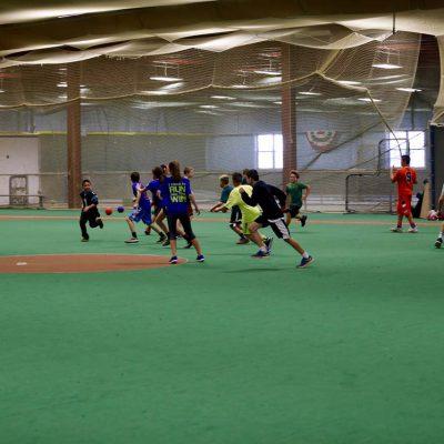 Older kids playing football